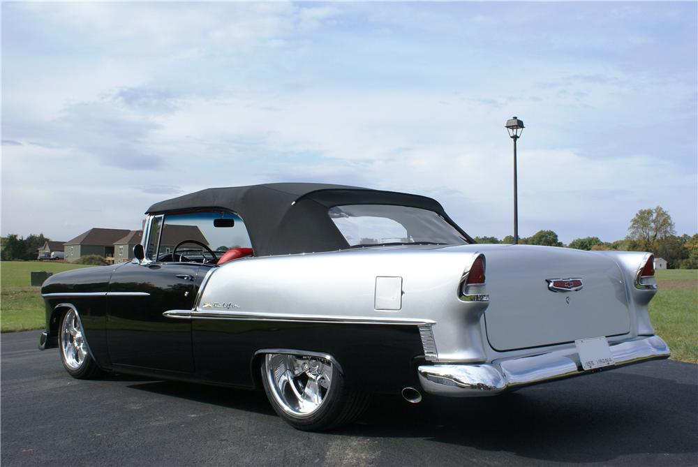 1955 CHEVROLET BEL AIR CUSTOM CONVERTIBLE - Rear 3/4 - 161130