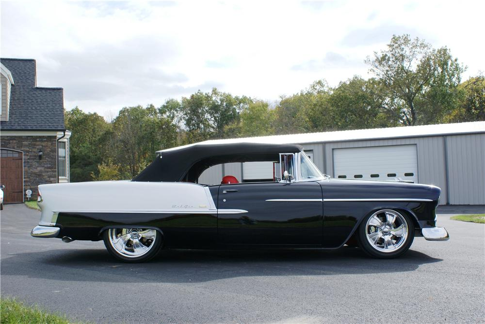 1955 CHEVROLET BEL AIR CUSTOM CONVERTIBLE - Side Profile - 161130