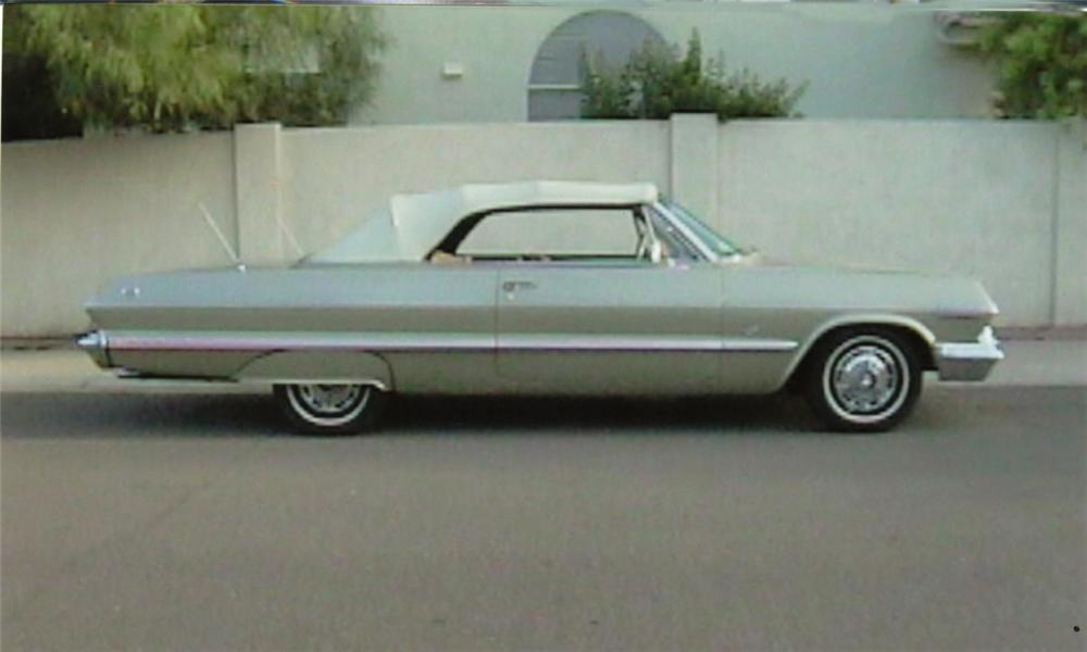 1963 CHEVROLET IMPALA SS CONVERTIBLE - Side Profile - 16115