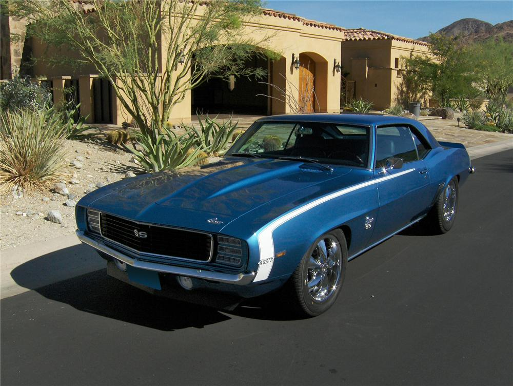 1969 CHEVROLET CAMARO CUSTOM 2 DOOR COUPE - Front 3/4 - 161167