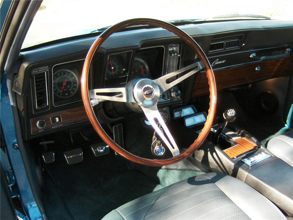 1969 CHEVROLET CAMARO CUSTOM 2 DOOR COUPE - Interior - 161167