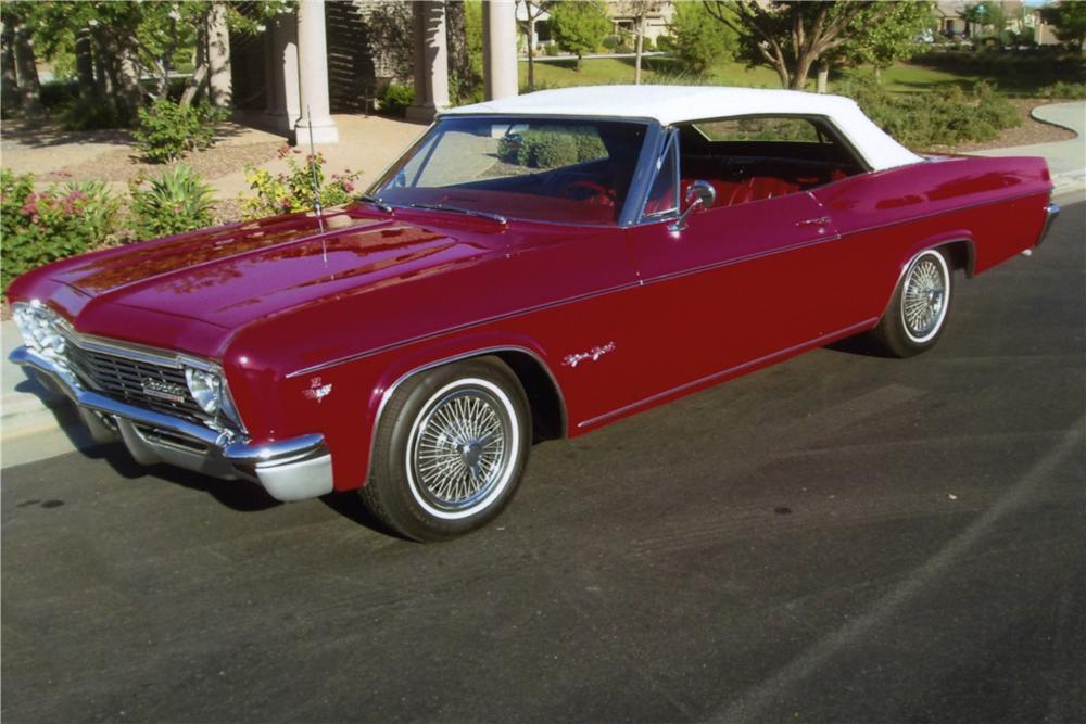 1966 CHEVROLET IMPALA SS CONVERTIBLE - Front 3/4 - 161174