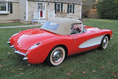 1956 CHEVROLET CORVETTE CONVERTIBLE - Front 3/4 - 161178
