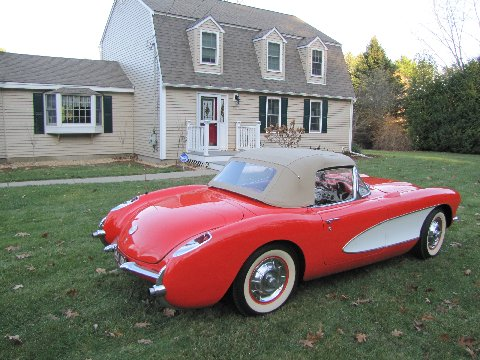 1956 CHEVROLET CORVETTE CONVERTIBLE - Rear 3/4 - 161178