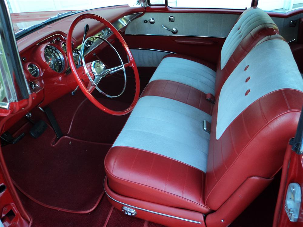 1957 CHEVROLET BEL AIR CONVERTIBLE - Interior - 161201