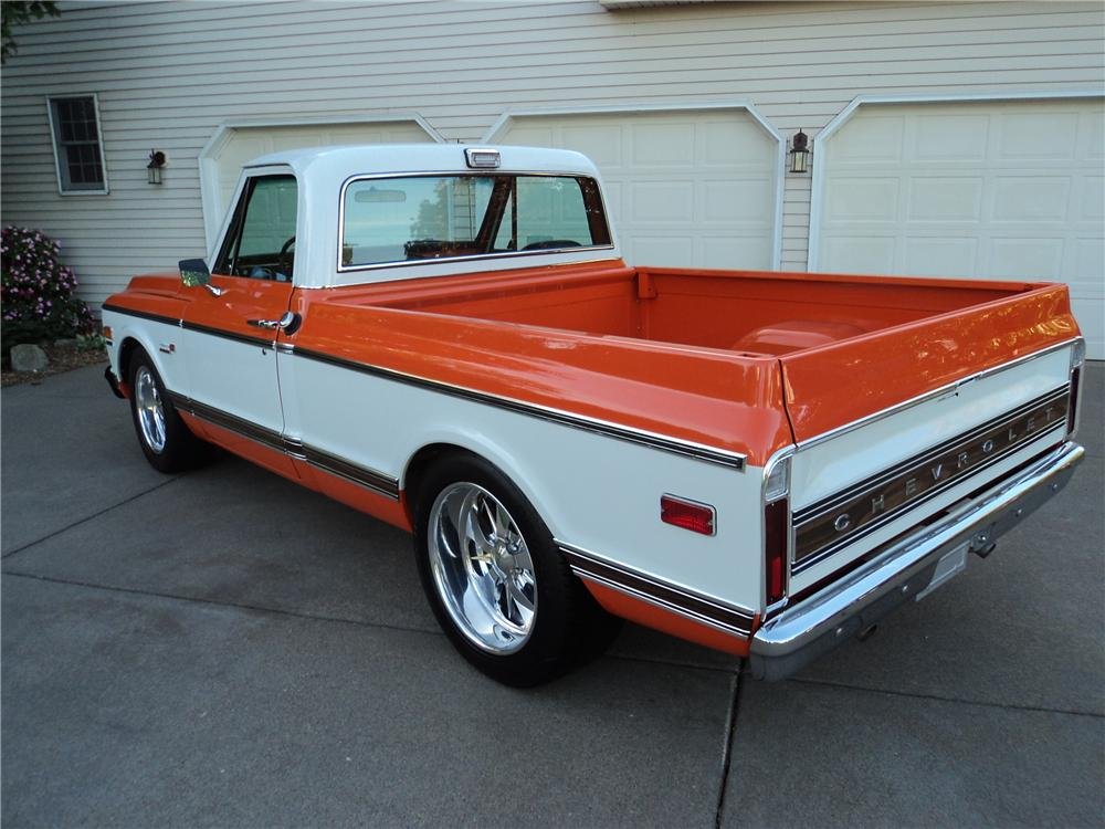1971 CHEVROLET C-10 CUSTOM PICKUP - Rear 3/4 - 161202