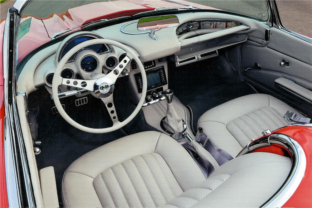 1962 CHEVROLET CORVETTE CUSTOM CONVERTIBLE - Interior - 161204
