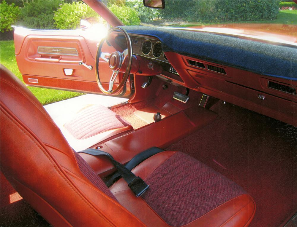 1970 DODGE CHALLENGER R/T 2 DOOR HARDTOP - Interior - 161209