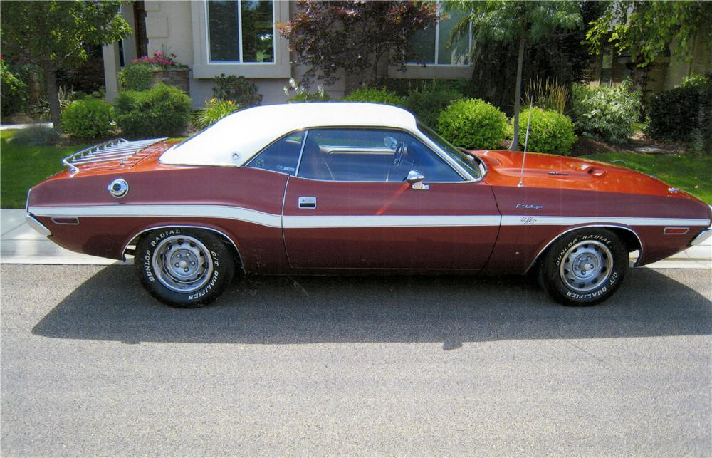 1970 DODGE CHALLENGER R/T 2 DOOR HARDTOP - Side Profile - 161209