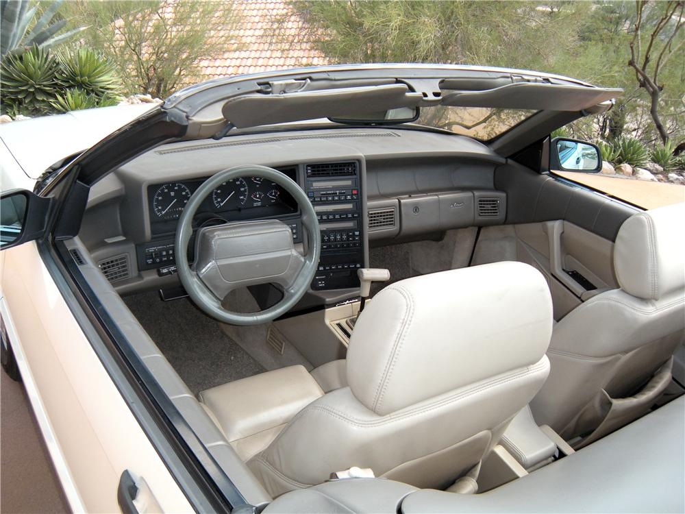 Interior Web on 1993 Cadillac Allante