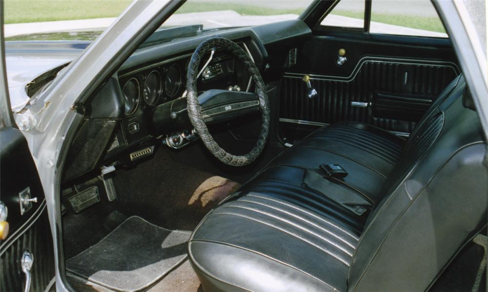 1971 CHEVROLET EL CAMINO SUPER SPORT PICKUP - Interior - 16122