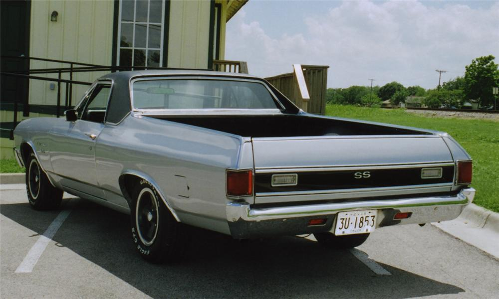 1971 CHEVROLET EL CAMINO SUPER SPORT PICKUP - Rear 3/4 - 16122