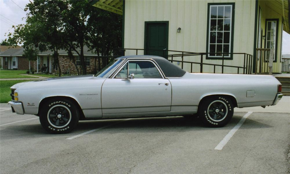 1971 CHEVROLET EL CAMINO SUPER SPORT PICKUP - Side Profile - 16122