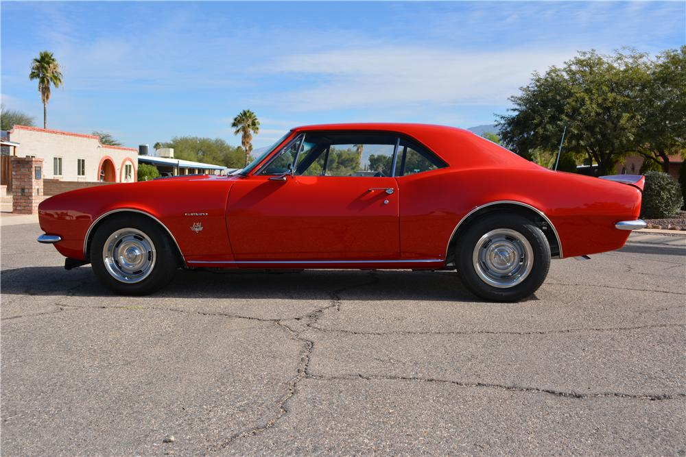 1967 CHEVROLET CAMARO CUSTOM 2 DOOR COUPE - Side Profile - 161220