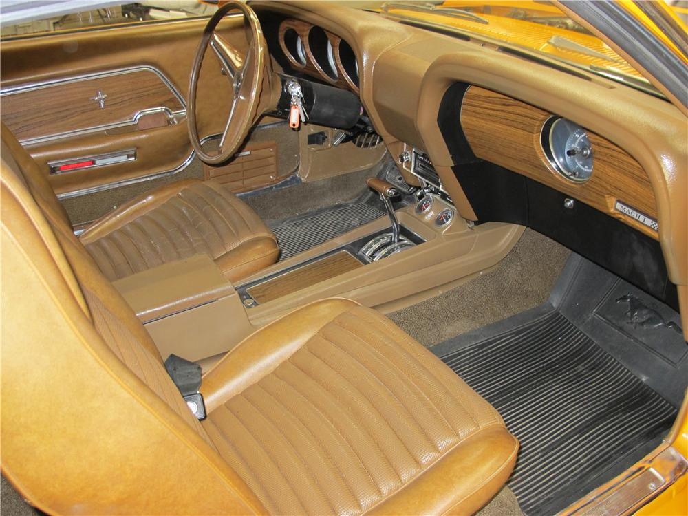1970 FORD MUSTANG MACH 1 428 CJ FASTBACK - Interior - 161231