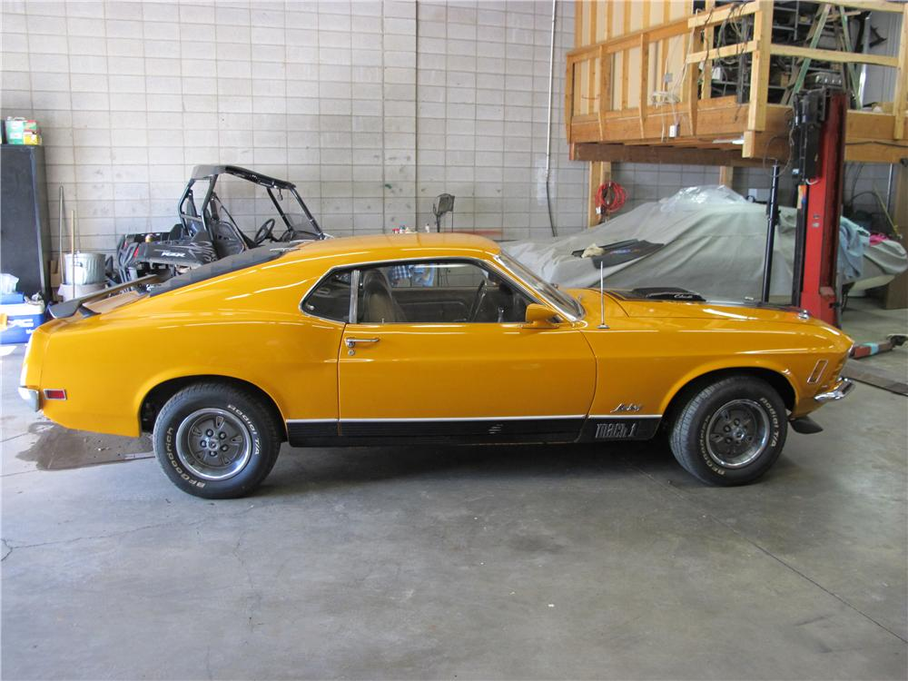 1970 FORD MUSTANG MACH 1 428 CJ FASTBACK - Side Profile - 161231