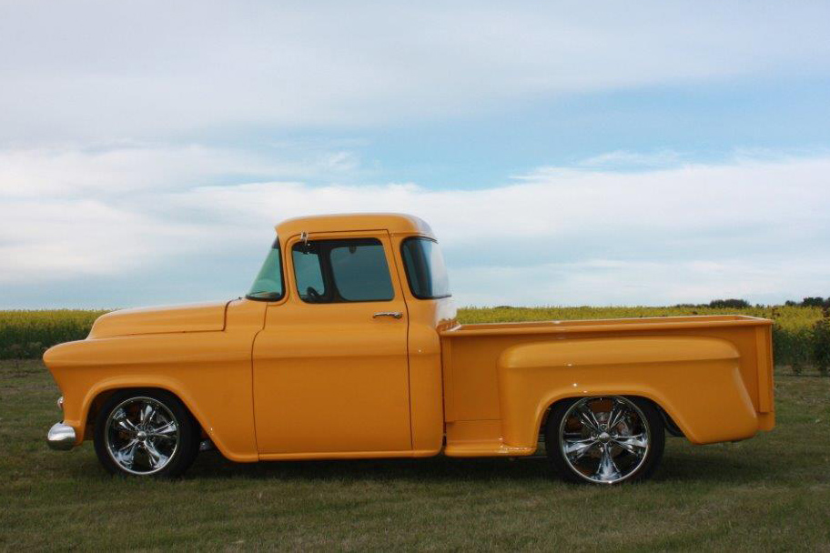 1955 CHEVROLET 3100 CUSTOM PICKUP - Side Profile - 161236