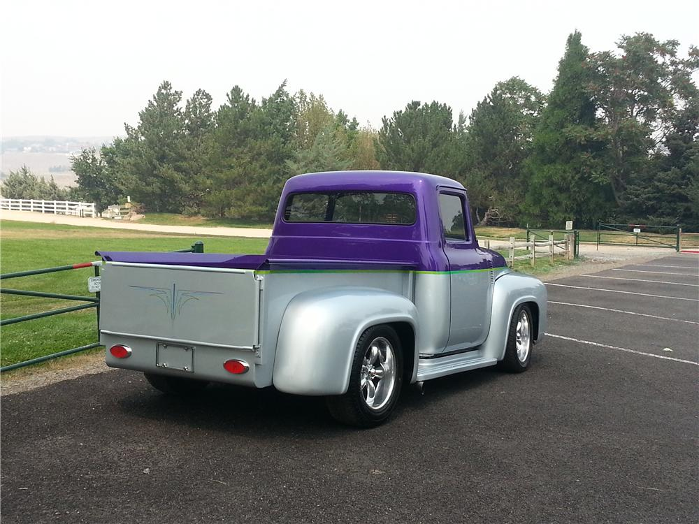 1956 FORD F-100 CUSTOM PICKUP - Rear 3/4 - 161239