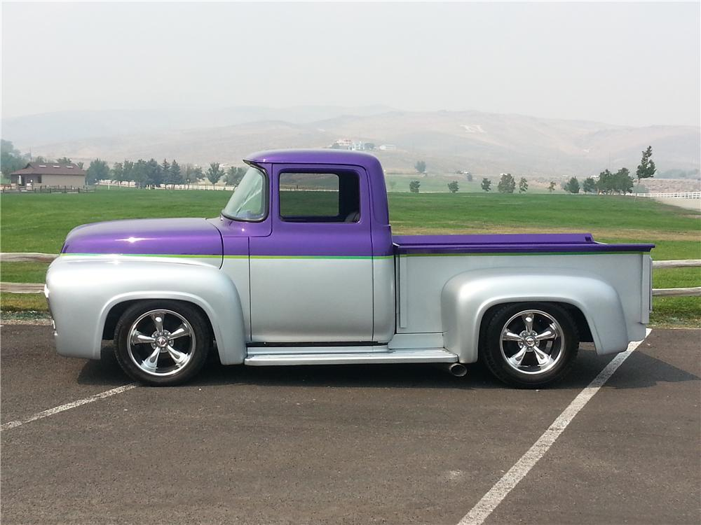 1956 FORD F-100 CUSTOM PICKUP - Side Profile - 161239