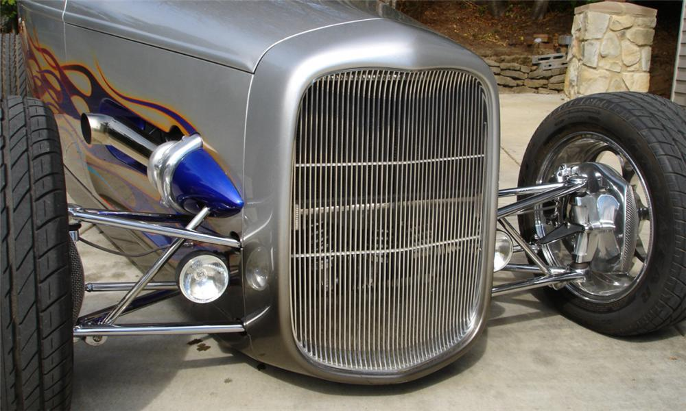 1932 FORD CUSTOM TWIN-TURBO ROADSTER - Side Profile - 16126