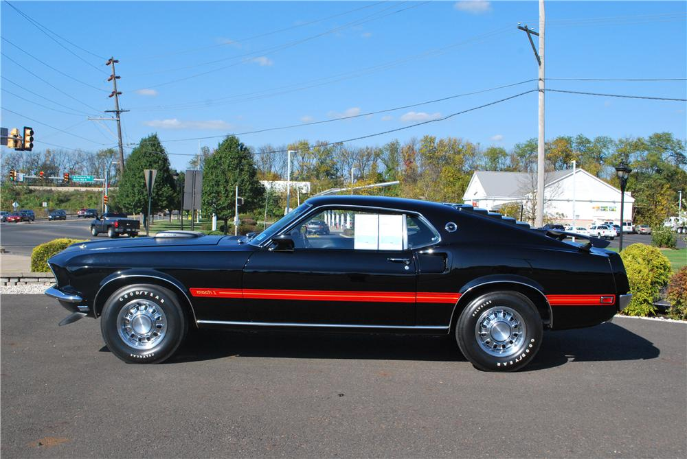 1969 FORD MUSTANG MACH 1 428 CJR FASTBACK - Side Profile - 161269