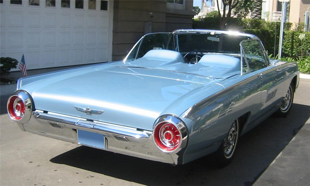 1963 FORD THUNDERBIRD CONVERTIBLE - Rear 3/4 - 16127