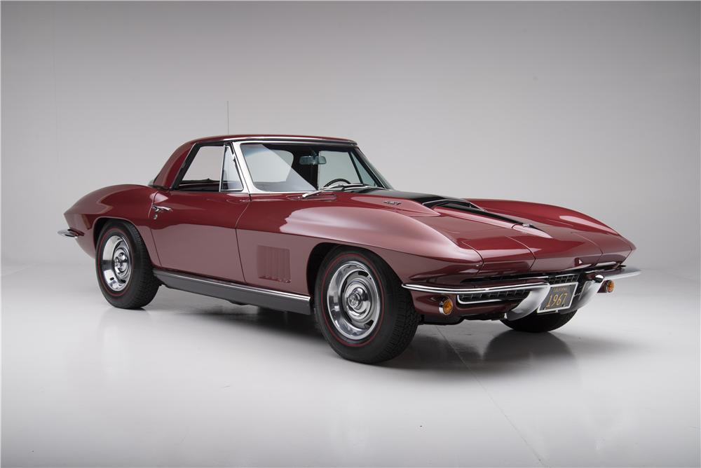 1967 CHEVROLET CORVETTE CONVERTIBLE - Front 3/4 - 161272