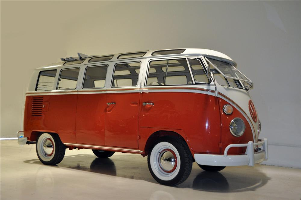 1966 VOLKSWAGEN 21 WINDOW SAMBA BUS - Front 3/4 - 161277