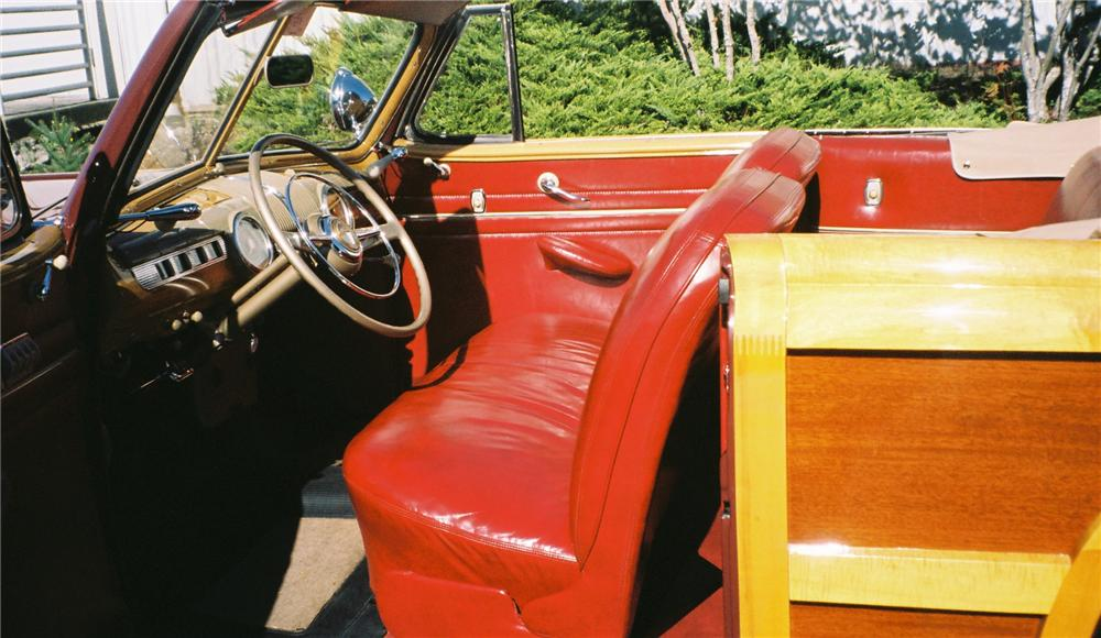 1947 FORD SPORTSMAN SUPER DELUXE CONVERTIBLE - Interior - 161284