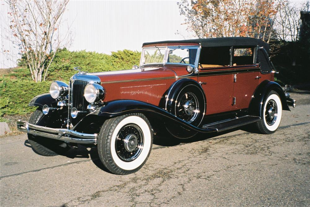 1932 CHRYSLER IMPERIAL CONVERTIBLE SEDAN - Front 3/4 - 161291