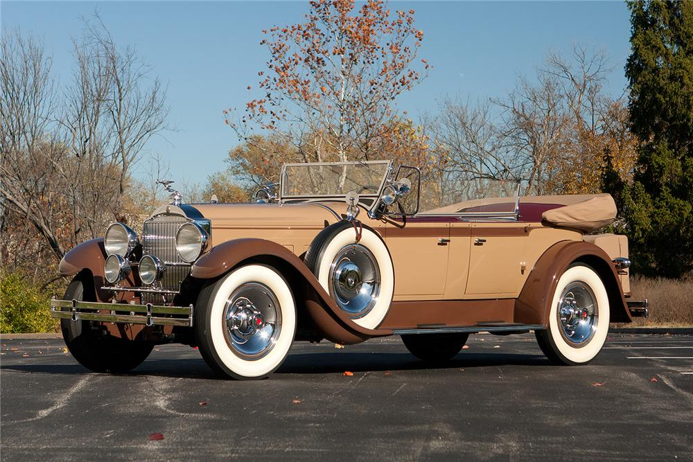 1929 PACKARD CUSTOM EIGHT PHAETON - Front 3/4 - 161309