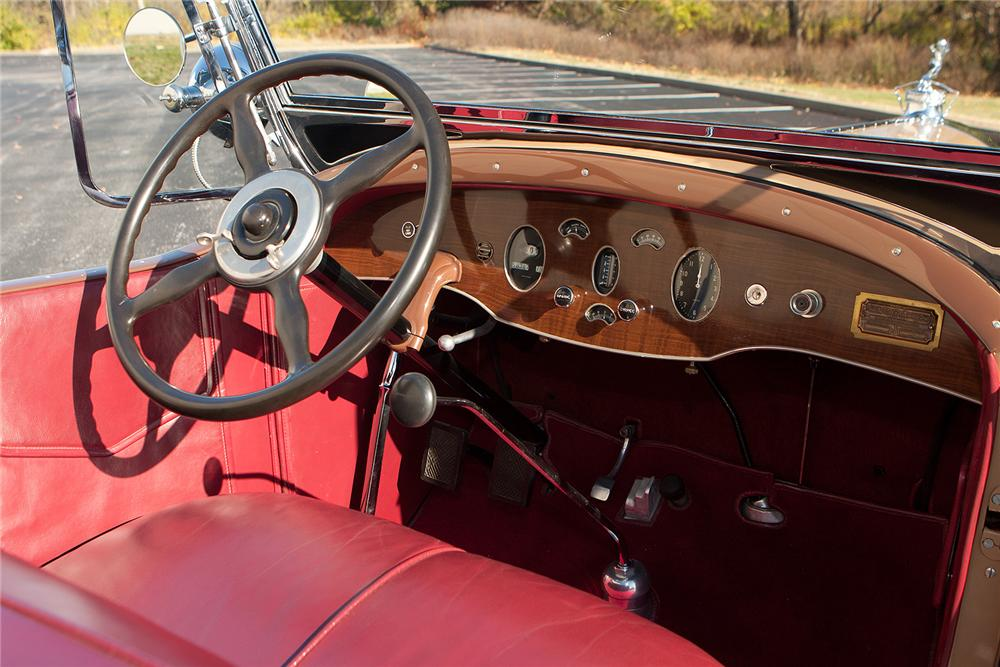 1929 PACKARD CUSTOM EIGHT PHAETON - Interior - 161309
