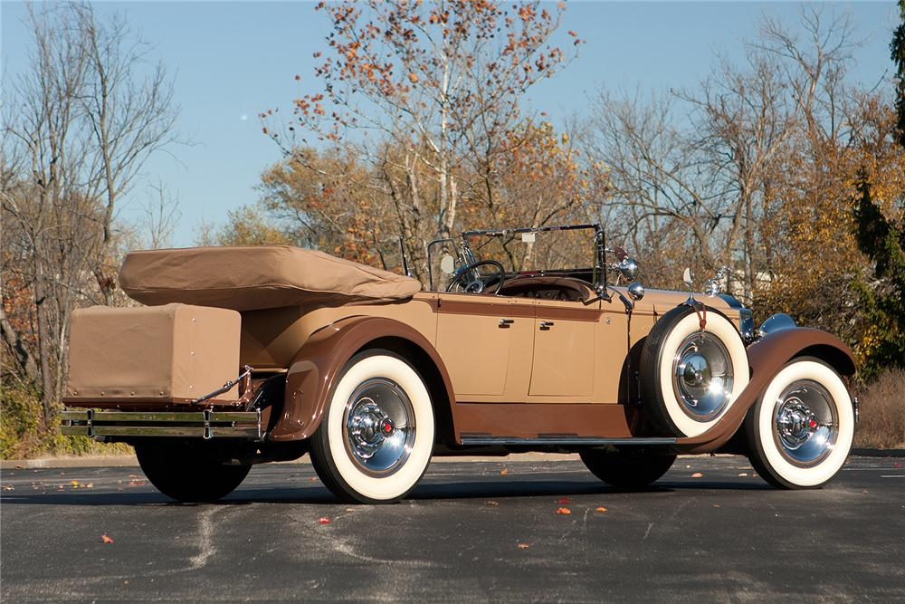 1929 PACKARD CUSTOM EIGHT PHAETON - Rear 3/4 - 161309