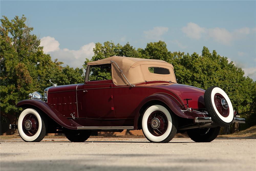 1931 CADILLAC 355 A CONVERTIBLE - Rear 3/4 - 161310