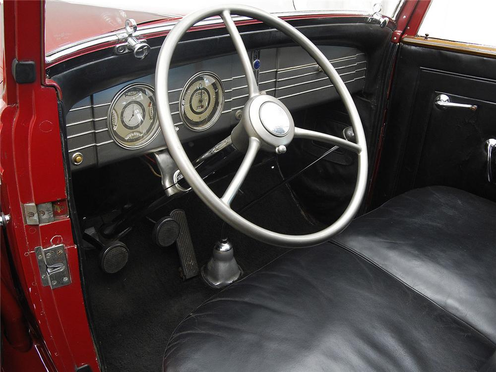 1936 LINCOLN K TOWN CAR - Interior - 161312