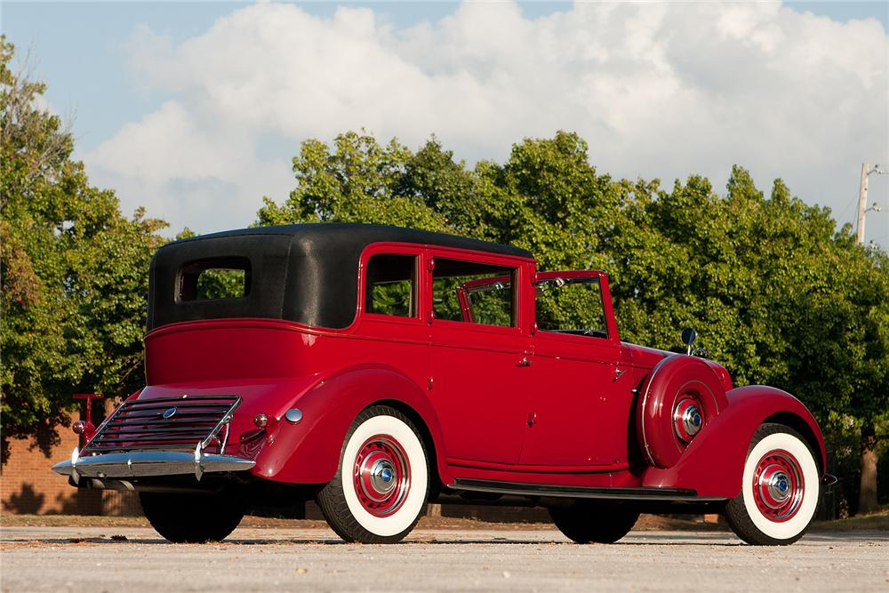 1936 LINCOLN K TOWN CAR - Rear 3/4 - 161312