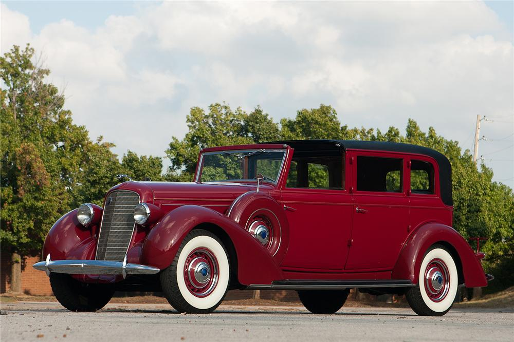1936 LINCOLN K TOWN CAR - Side Profile - 161312