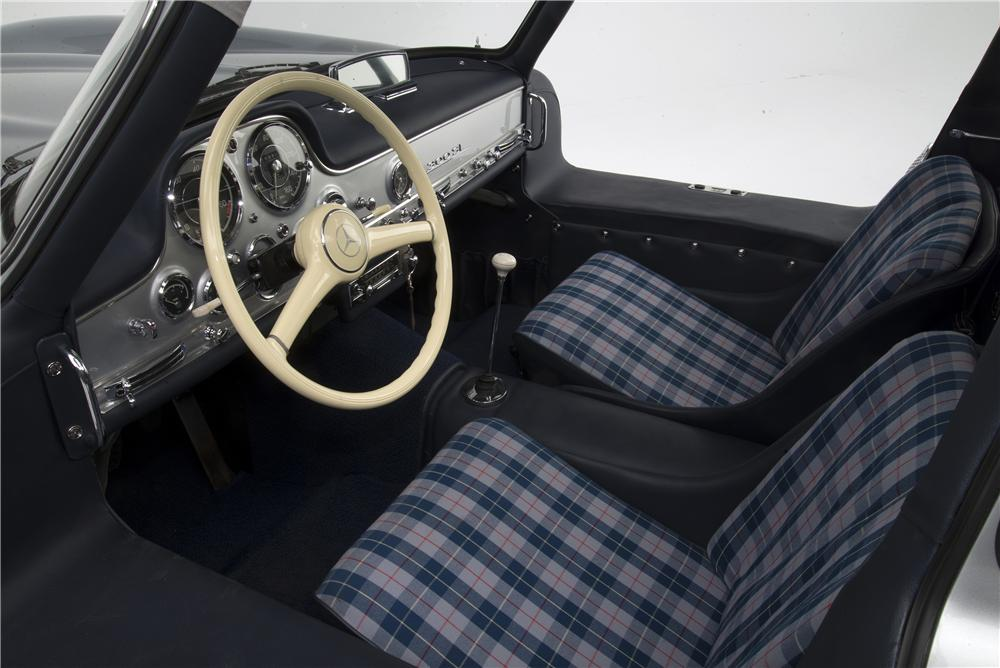 1955 mercedes benz 300sl gullwing coupe interior 161313
