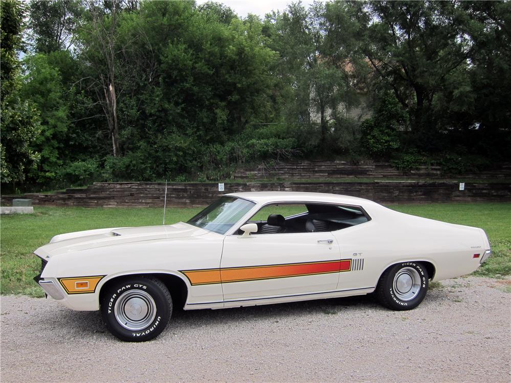 1970 FORD TORINO GT 2 DOOR HARDTOP - Side Profile - 161325