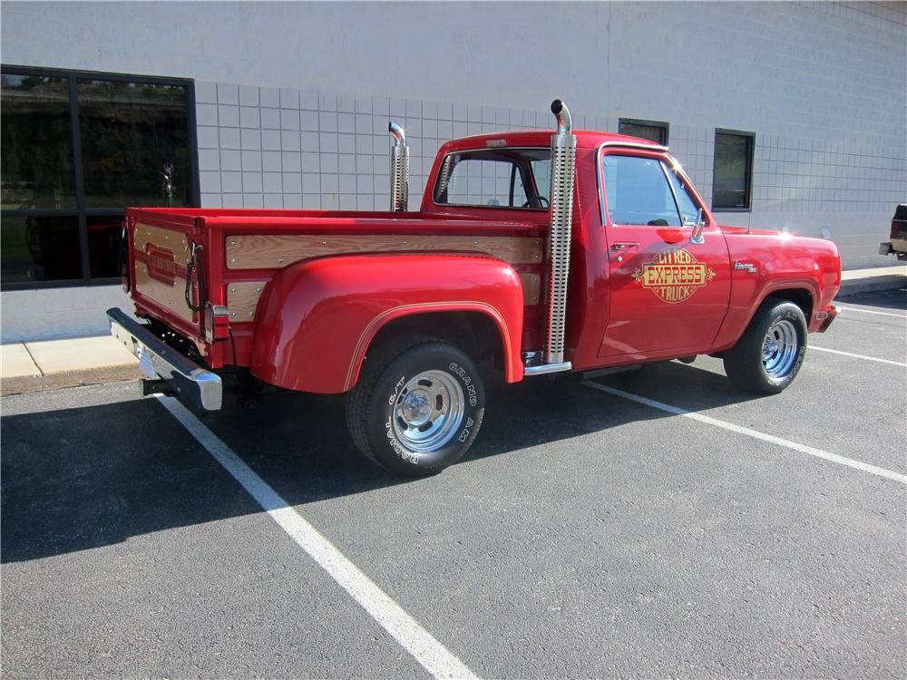 1979 DODGE LIL RED EXPRESS PICKUP - Rear 3/4 - 161326