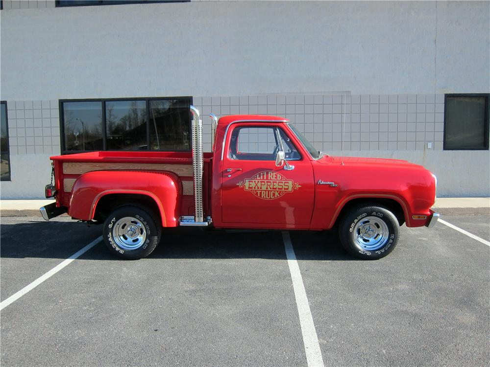 1979 DODGE LIL RED EXPRESS PICKUP - Side Profile - 161326