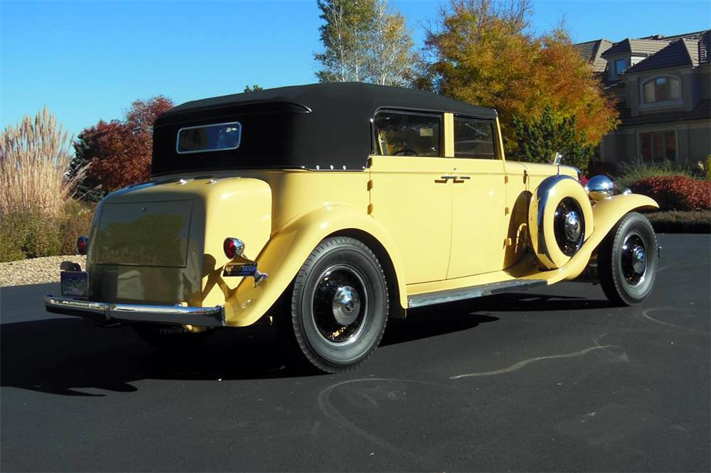 1933 MARMON SIXTEEN CONVERTIBLE SEDAN - Rear 3/4 - 161336
