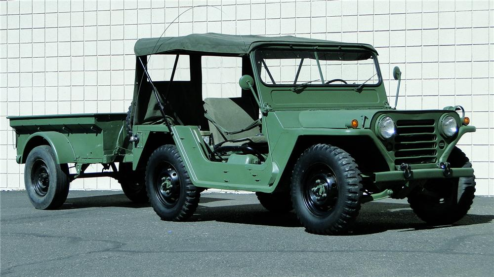 1968 FORD M151 MILITARY UTILITY TACTICAL TRUCK - Front 3/4 - 161343