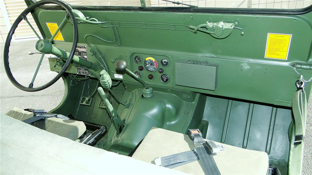 1968 FORD M151 MILITARY UTILITY TACTICAL TRUCK - Interior - 161343