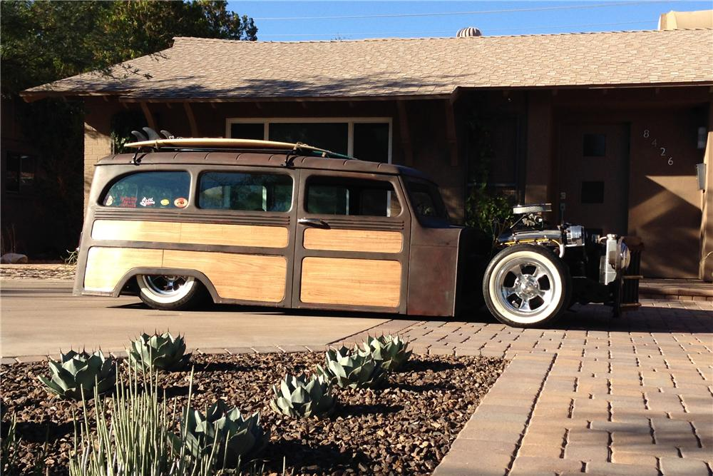 1961 WILLYS CUSTOM WOODY WAGON - Side Profile - 161360