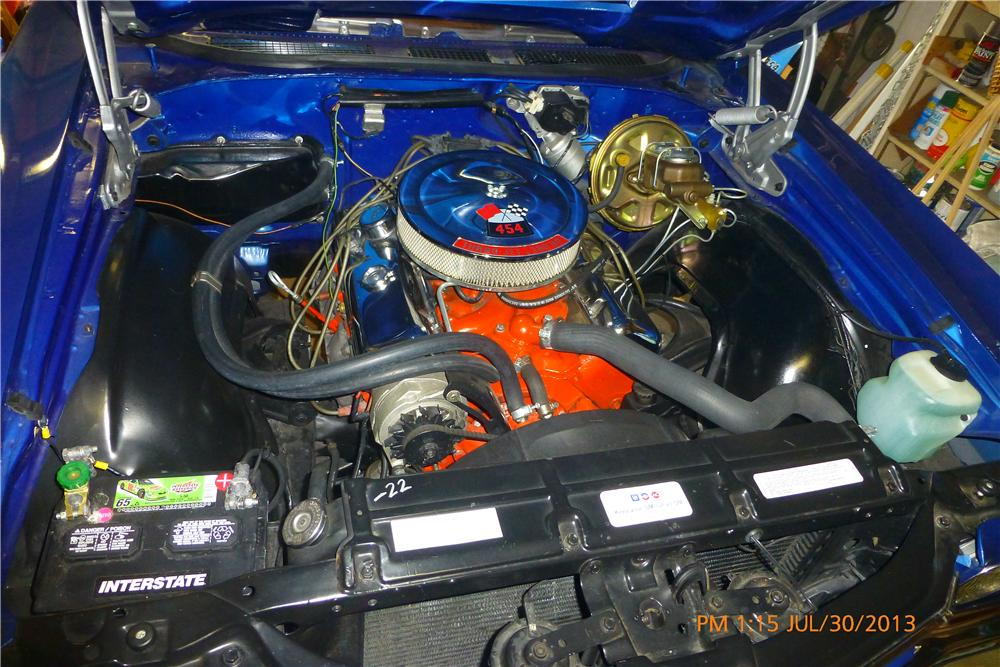 1970 CHEVROLET CHEVELLE SS LS5 CONVERTIBLE - Engine - 161365