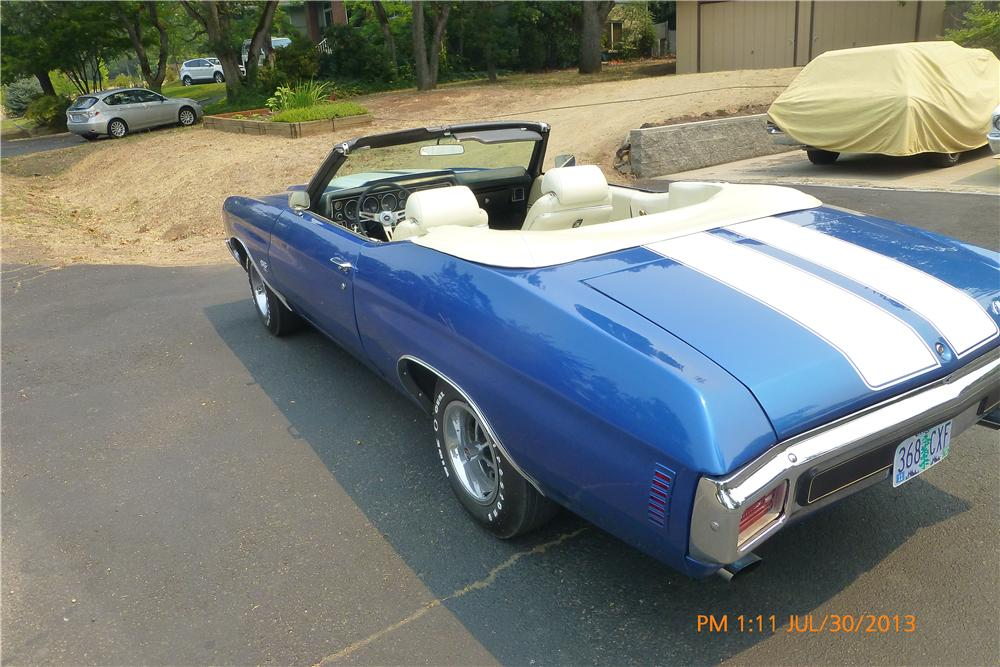 1970 CHEVROLET CHEVELLE SS LS5 CONVERTIBLE - Rear 3/4 - 161365