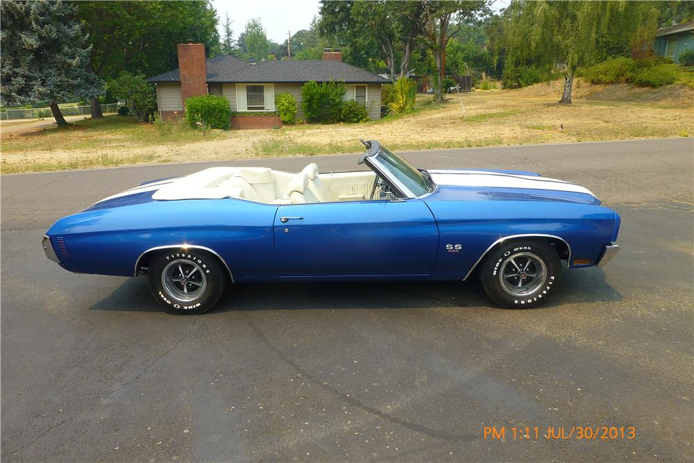 1970 CHEVROLET CHEVELLE SS LS5 CONVERTIBLE - Side Profile - 161365