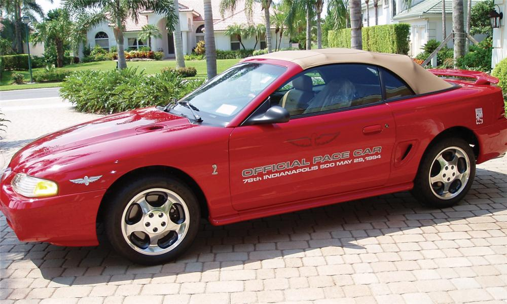 1994 FORD MUSTANG COBRA INDY PACE CAR - Front 3/4 - 16137