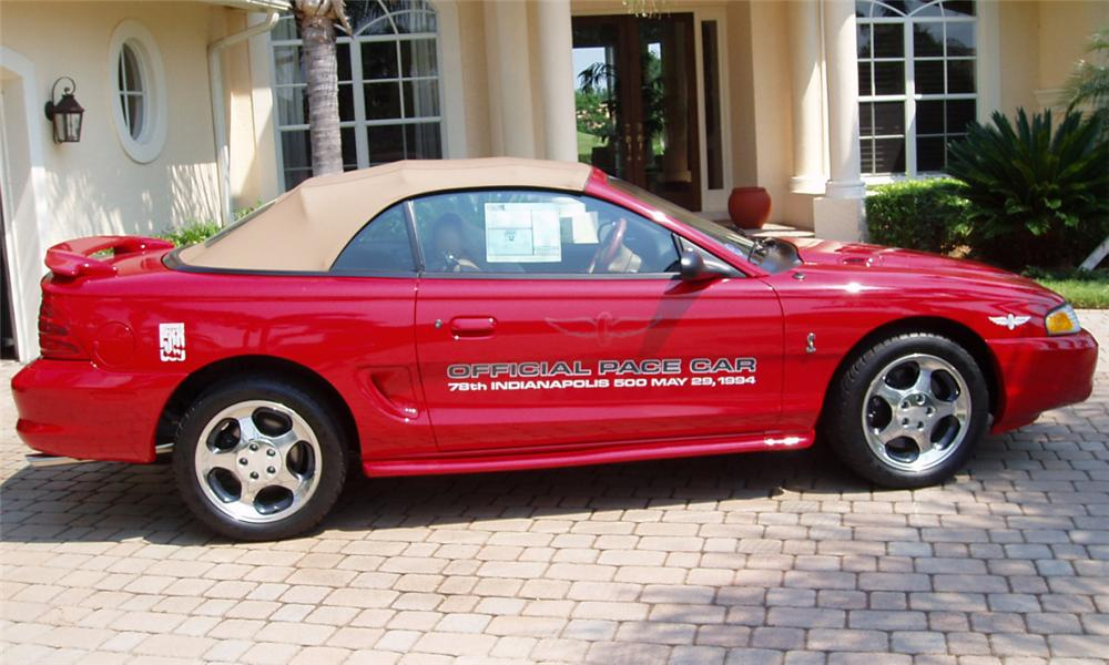 1994 FORD MUSTANG COBRA INDY PACE CAR - Side Profile - 16137
